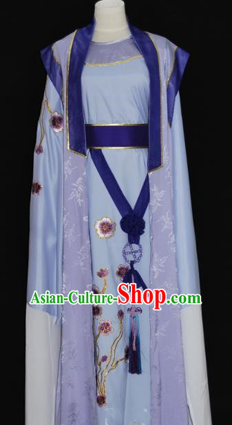 China Traditional Beijing Opera Niche Purple Robe Chinese Peking Opera Scholar Costume