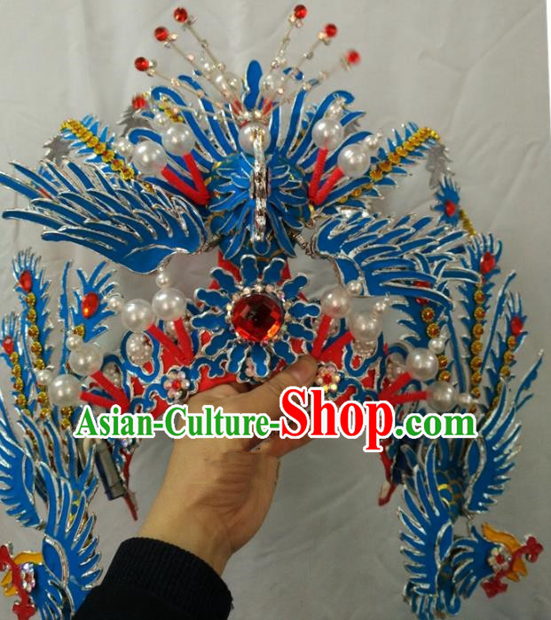 China Traditional Beijing Opera Actress Hair Accessories Chinese Peking Opera Huadan Phoenix Coronet for Women