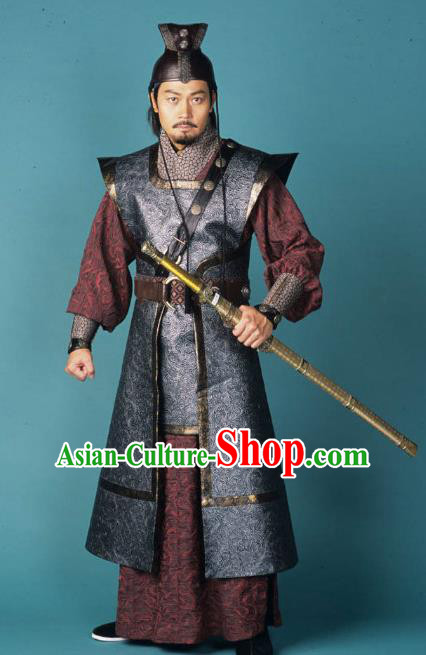 Ancient Chinese Song Dynasty General Imperial Bodyguard Replica Costume for Men