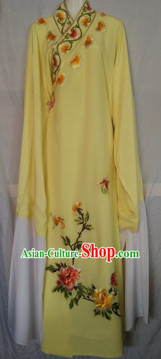 China Beijing Opera Niche Embroidered Yellow Robe Chinese Traditional Peking Opera Scholar Costume for Adults