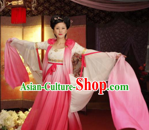 Chinese Traditional Tang Dynasty Geisha Dance Dress Courtesan Replica Costume for Women