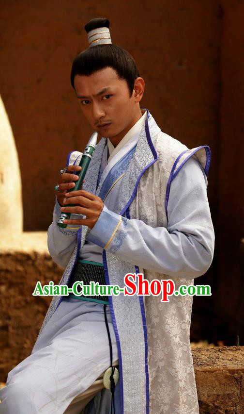 Traditional Chinese Tang Dynasty Persian Prince Knight-errant Swordsman Hanfu Costume for Men