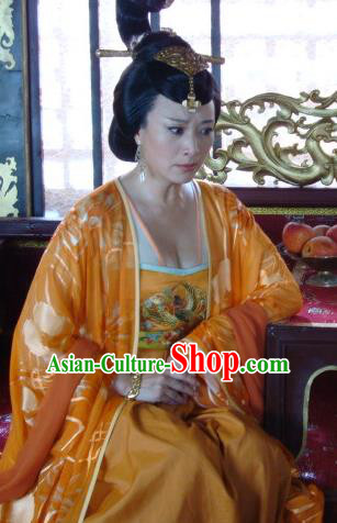 Chinese Traditional Tang Dynasty Empress Wu Zetian Dress Queen Replica Costume for Women