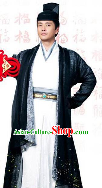 Traditional Chinese Tang Dynasty Amazing Detective Di Renjie Replica Costume for Men