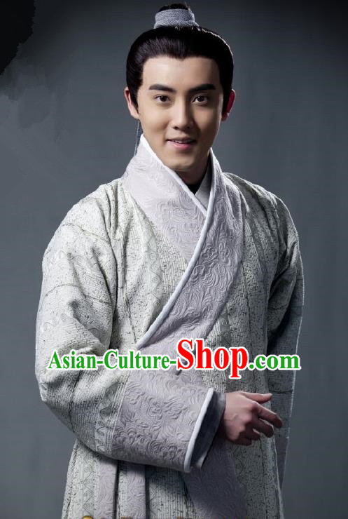 Traditional Chinese Tang Dynasty Nobility Childe Swordsman Chu Shangyuan Replica Costume for Men