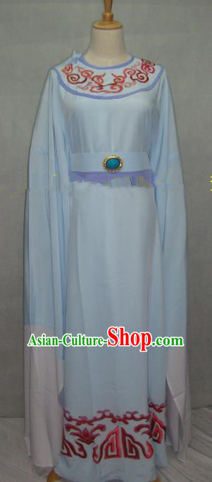 Traditional Chinese Beijing Opera Niche Costume Beijing Opera Blue Robe for Adults