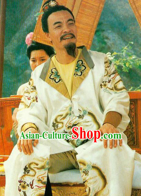 Chinese Ancient Emperor Tang Dynasty Imperator Li Longji Embroidered Replica Costume for Men