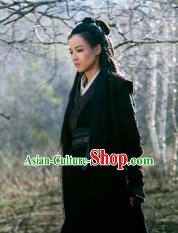 Chinese Tang Dynasty Swordswoman Female Assassin Nie Yinniang Replica Costume for Women