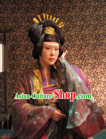 Chinese Tang Dynasty Queen Embroidered Hanfu Dress Ancient Empress Wu Zetian Replica Costume for Women