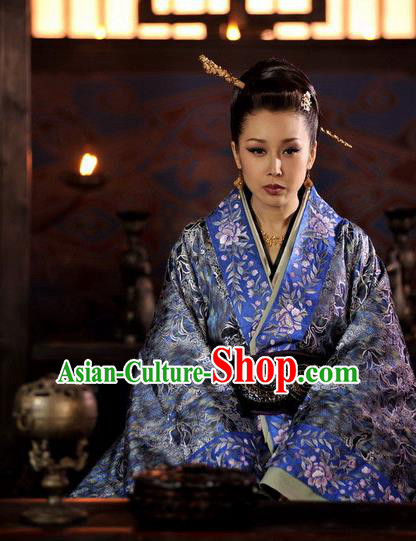 Chinese Warring States Period Teleplay Performance Princess Hanfu Embroidered Costume for Women