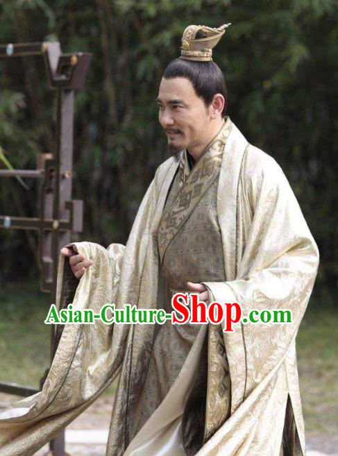 Chinese Ancient Tang Dynasty Emperor Li Zhi Embroidered Replica Costume for Men