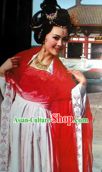 Chinese Ancient Tang Dynasty Consort Yang Dress Palace Lady Replica Costume for Women