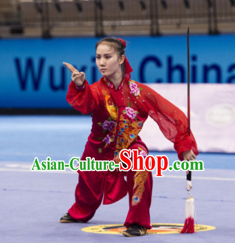 Supreme Competition Female Taiji Quan Uniforms Kung Fu Suit Kung Fu Uniform Chinese Jacket Taiji Clothes Dress Dresses Kung Fu Clothing Embroidered Tai Chi Suits Custom Kung Fu Embroidery Uniforms