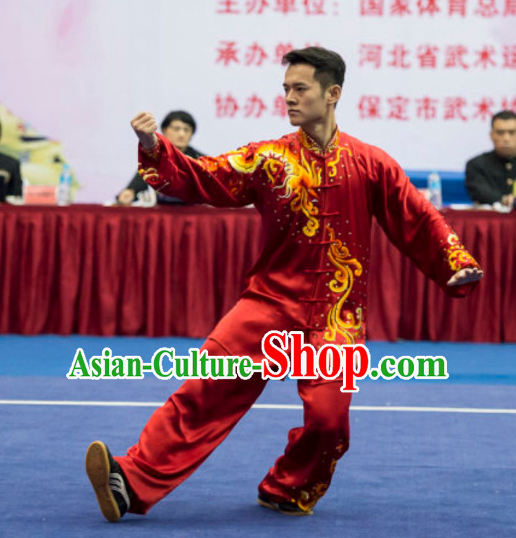 Supreme Custom Competition Male Taiji Quan Uniforms Kung Fu Suit Kung Fu Uniform Chinese Jacket Taiji Clothes Dress Dresses Kung Fu Clothing Embroidered Tai Chi Suits Custom Kung Fu Embroidery Uniforms