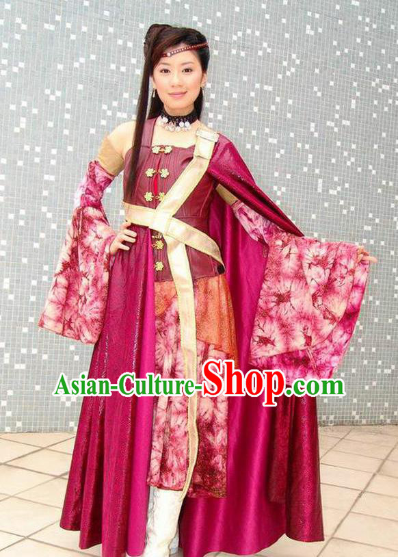 Ancient Chinese Tang Dynasty Swordswoman Hanfu Dress Replica Costume for Women