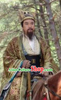 Chinese Ancient Gao Emperor of Tang Dynasty Li Yuan Embroidered Replica Costume for Men