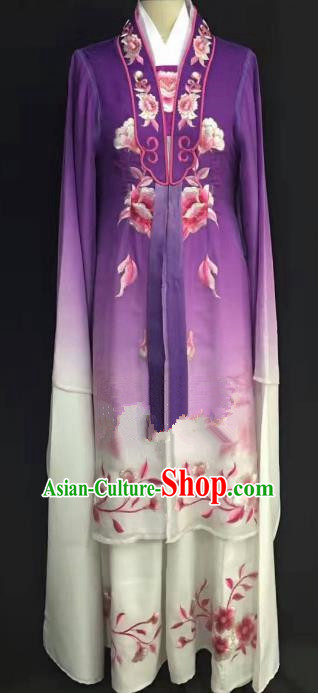 Traditional Chinese Beijing Opera Costume Professional Peking Opera Diva Purple Dress