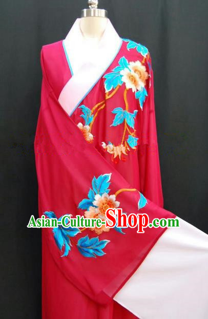 Traditional Chinese Beijing Opera Embroidered Red Robe Peking Opera Niche Costume for Adults