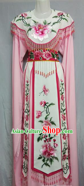 Top Grade Chinese Beijing Opera Actress Costume China Professional Peking Opera Diva Pink Dress