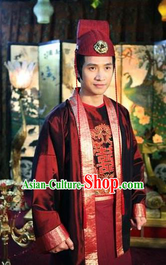 Traditional Chinese Ancient Tang Dynasty General Pei Replica Costume for Men