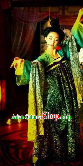 Chinese Ancient Tang Dynasty Geisha Courtesan Hanfu Dress Historical Costume for Women