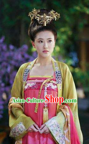 Chinese Ancient Tang Dynasty Princess Taiping Hanfu Dress Palace Lady Historical Costume for Women