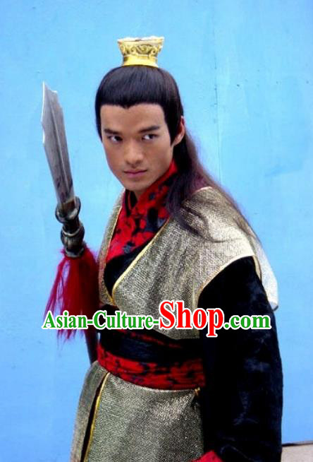 Chinese Ancient Sui Dynasty Swordsman General Yuwen Chengdu Replica Costume for Men