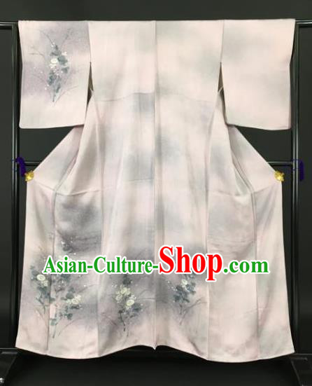 Japan Traditional Kimonos Printing Furisode Kimono Ancient Yukata Dress Formal Costume for Women