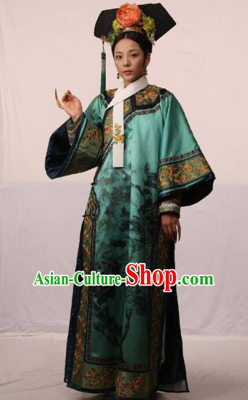 Chinese Traditional Palace Lady Historical Costume China Qing Dynasty Yongzheng Imperial Concubine De Clothing
