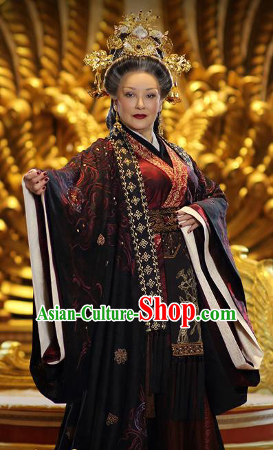 Ancient Chinese Han Dynasty Empress Dowager Dou Yifang Hanfu Dress Replica Costume for Women