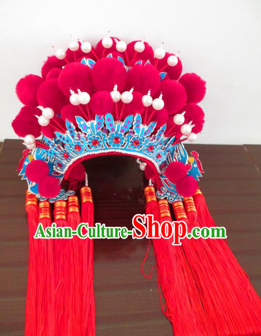 Traditional Chinese Beijing Opera Hair Accessories Bride Phoenix Coronet Peking Opera Actress Headwear