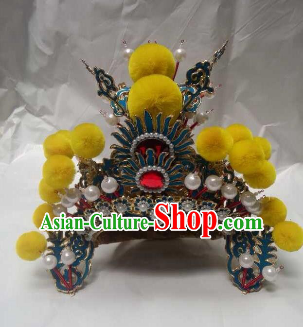 Traditional Chinese Beijing Opera Niche Hats Peking Opera Prince Headwear