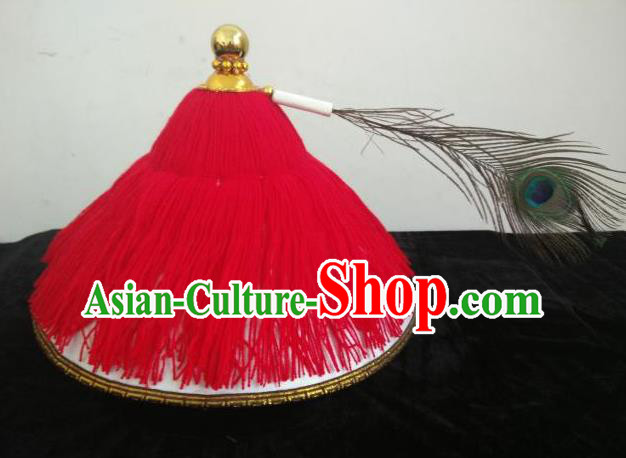 Traditional Chinese Beijing Opera Qing Dynasty Hats Peking Opera Military Officer Headwear