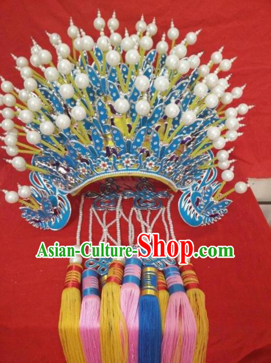Traditional Chinese Beijing Opera Diva Phoenix Coronet Peking Opera Actress Hats Headwear