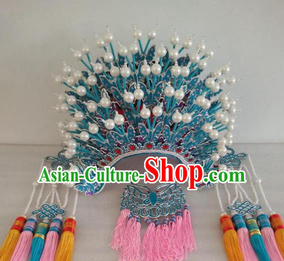 Traditional Chinese Beijing Opera Diva Handmade Phoenix Coronet Peking Opera Actress Hats Headwear