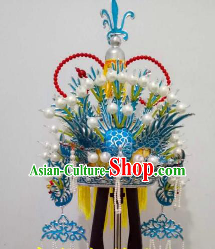 Traditional Chinese Beijing Opera Queen Phoenix Coronet Hair Accessories Peking Opera Actress Hats Headwear