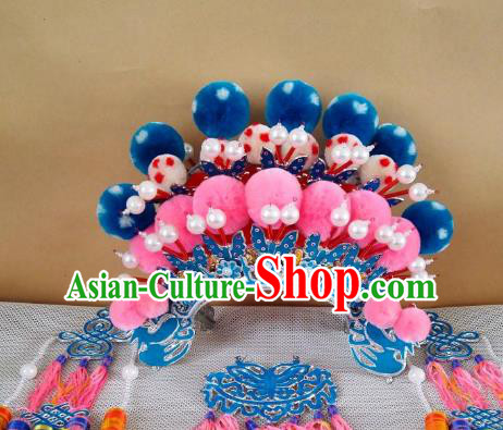 Chinese Traditional Beijing Opera Diva Phoenix Coronet Hair Accessories Peking Opera Actress Hats Headwear