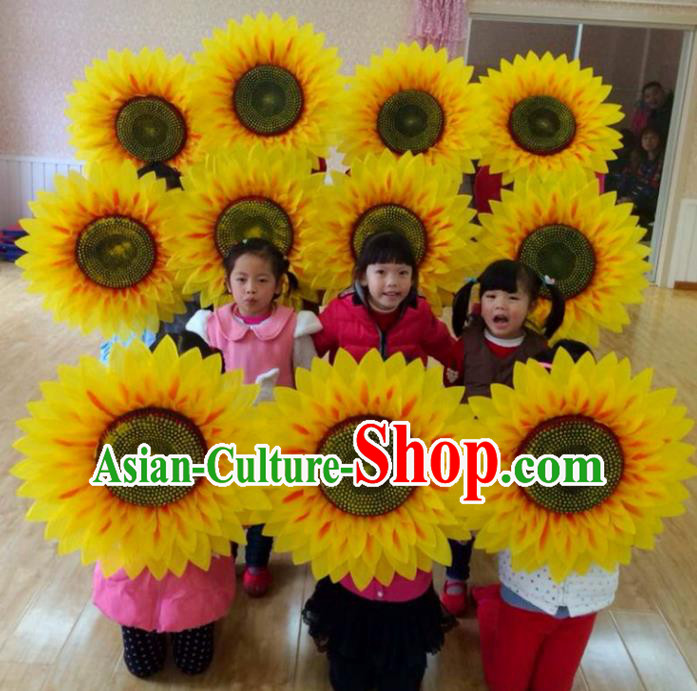 Chinese Folk Dance Props Accessories Stage Performance Sunflowers for Kids