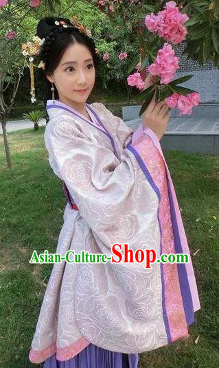 Chinese Han Dynasty Imperial Concubine Hanfu Dress Ancient Palace Lady Traditional Replica Costume for Women