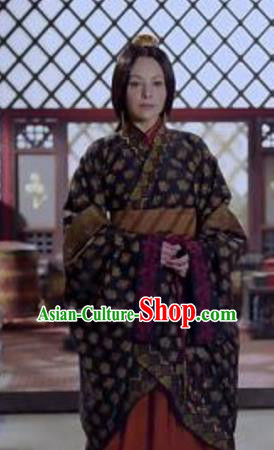 Ancient Traditional Chinese Eastern Han Dynasty Dowager Guo Zhu Hanfu Dress Replica Costume for Women