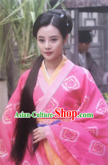 Chinese Ancient Wei and Jin Dynasties Nobility Lady Hanfu Dress Replica Costume for Women