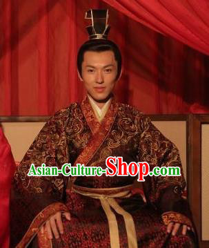 Traditional Chinese Jin Dynasty Calligrapher Wang Xizhi Replica Costume for Men