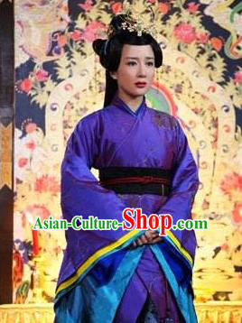 Chinese Ancient Northern and Southern Dynasties Qi Kingdom Princess Gao Xiang Replica Costume for Women
