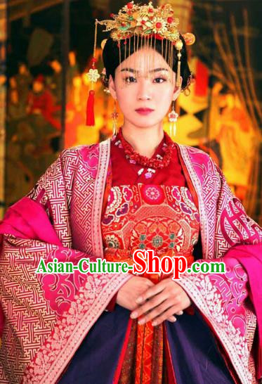 Chinese Ancient Five Dynasties and Ten Kingdoms Chu Princess Hanfu Dress Replica Costume for Women