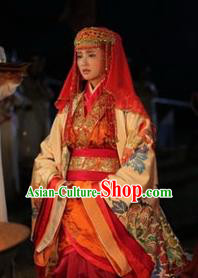 Chinese Ancient Tang Dynasty Princess Yicheng Hanfu Dress Replica Costume for Women