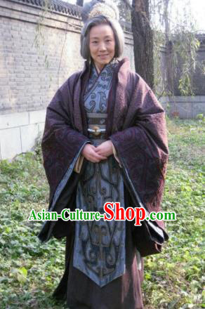 Chinese Ancient Three Kingdom Period State Wu Empress Dowager Hanfu Dress Replica Costume for Women
