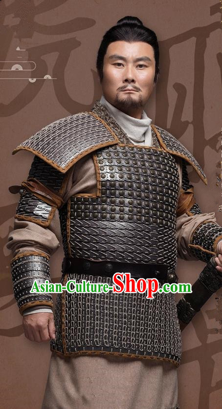 Chinese Ancient Three Kingdoms Period General Historical Costume for Men