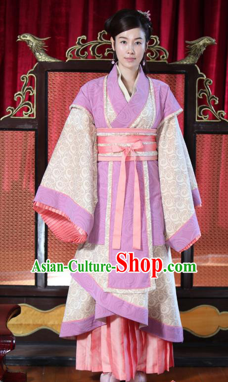Chinese Spring and Autumn Period Nobility Lady Hanfu Dress Ancient Princess Replica Costume for Women