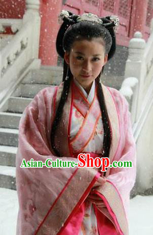 Chinese Ancient Three Kingdoms Period Wei State Princess Qinghe Hanfu Dress Replica Costume for Women
