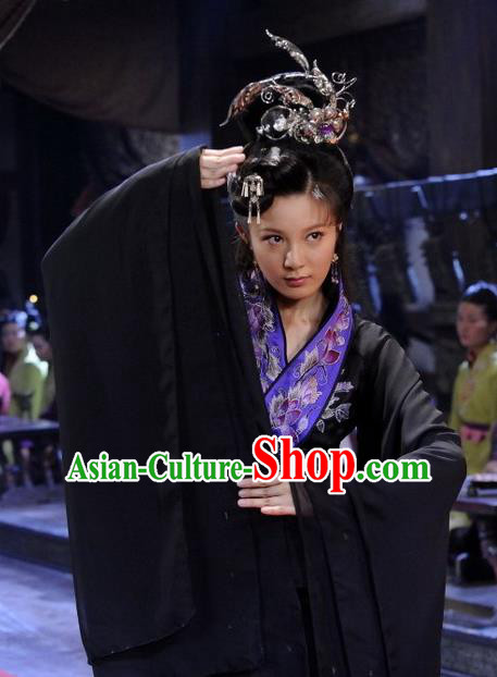 Ancient Chinese Spring and Autumn Period Imperial Concubine Xi Shi Dance Dress Replica Costume for Women